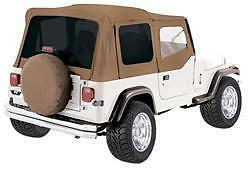 Rampage Complete Soft Top W Frame Tint 87 95 Jeep Wrangler Yj 68217 Spice
