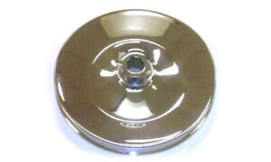 Early Gm Chevy Chrome Steel Single Groove Power Steering Pump Pulley Keyway