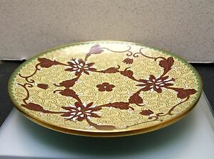 Antique Vintage Handcrafted Chinese Cloisonne Dish Plate 7 Inches Diameter