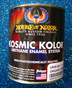 House Of Kolor Uk09 Kandy Organic Green Kosmic Kolor 1 Quart