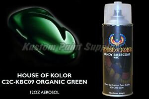 House Of Kolor Kbc09 Kandy Organic Green Shimrin Basecoat 12oz Aerosol
