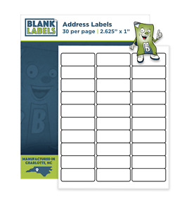 300 2 625 X 1 Blank Laser Ink Jet Mailing Adhesive Address Labels 1 X 2 5 8