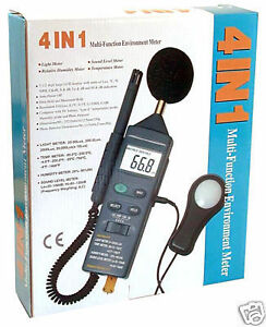Dt 8820 4 in 1 Thermometer Light Lux Humidity Sound Meter Temperature Tester New