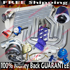 Gt28 Universal Turbo Kits 2 5 Intercooler piping bov fuel Regulator air Filter