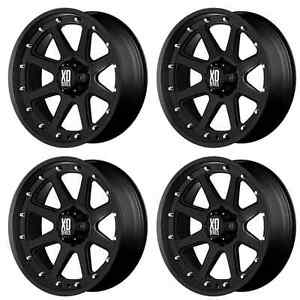 Kmc Xd798 Addict Xd79879080718 Rims Set Of 4 17x9 18mm Offset 8x6 5 Matte black