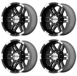 Moto Metal Mo951 Mo9517980312 Rims Set Of 4 17x9 12mm Offset 8x6 5 Gloss black