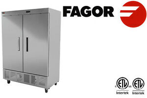 Fagor Commercial Reach in Freezer Solid Double Door 49 Cft Value Series