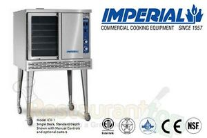 Imperial Commercial Convection Oven Single Deck Depth Natural Gas Model Icv 1