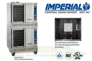 Imperial Commercial Convection Oven Double Deck Bakery Electric Model Icve 2