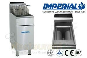Imperial Commercial Fryer Gas open Pot Fry Pot Natural Gas Model Ifs 40 op