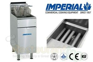 Imperial Commercial Fryer Gas tube Fired Fry Pot Natural Gas Model Ifs 75