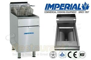 Imperial Commercial Fryer Gas open Pot Fry Pot Propane Model Ifs 75 op