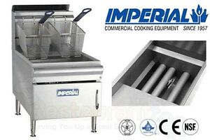 Imperial Commercial Fryer Counter Top Gas tube Fired Fry Pot Nat Gas Ifst 25