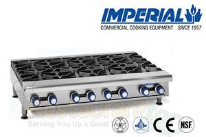 Imperial Commercial Hot Plates Open Burners Cast Iron Nat Gas Model Ihpa 8 48