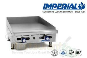 Imperial Griddle Manually Controlled 2 Burners 24 Propane Model Imga 2428 1