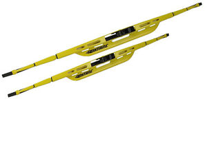 2 Pc 18 20 Oktane Yellow Windshield Wiper Wipers Blade Blades Set Of 2