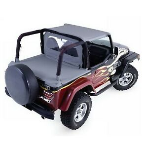 Rampage 993015 Black Cab Top Soft Top Tonneau Cover Kit For 92 95 Wrangler Yj