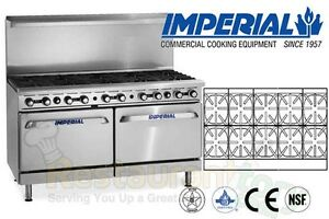 Imperial Restaurant Range 60 With 10 Burner 2 Convection Oven Nat Gas Ir 10 cc