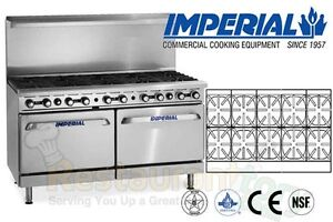 Imperial Commercial Restaurant Range 60 With 10 Burners Propane Model Ir 10