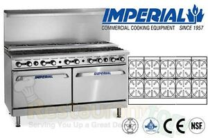 Imperial Commercial Restaurant Range 60 W 10 Burners 2 Ovens Propane Ir 10 su