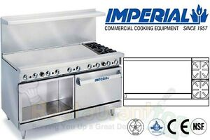 Imperial Commercial Restaurant Range 60 W 48 Griddle Nat Gas Ir 2 g48 xb