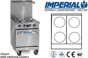 Imperial Commercial Restaurant Range 24 With 20 Oven Electric Model Ir 4 e