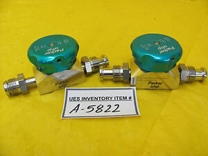 Parker Uhp1004 2755a1m410 Manual Diaphragm Valve Lot Of 2 Used Working
