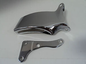 Sbc Chrome Alternator Bracket Lwp Sb Chevy 265 283 305 327 350 Long Water Pump