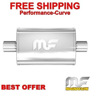 3 C C 4x9 Oval 14 Body Magnaflow Muffler Polished Stainless 14319