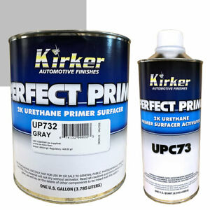 1 Gallon Kirker Perfect Prime 2k Gray Urethane Primer Surfacer Activator Upc73