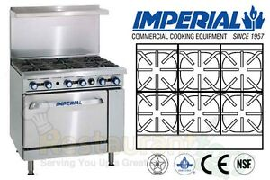 Imperial Commercial Restaurant Range 36 W 1 Oven Natural Gas Model Ir 6