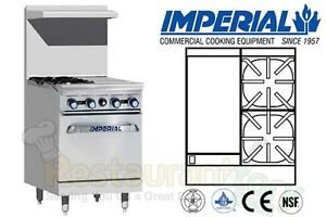 Imperial Commercial Restaurant Range 24 W 12 Griddle 1 Oven Nat Gas Ir 2 g12