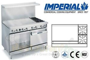 Imperial Commercial Restaurant Range 48 W 36 Griddle Nat Gas Ir 2 g36 xb