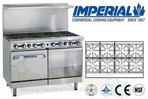 Imperial Commercial Restaurant Range 48 W 1 Oven 1cab Base Propane Ir 8 xb