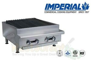 Imperial Commercial Rad Char broiler 24 Wide 4 Burners Nat Gas Model Irb 24