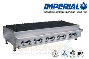 Imperial Commercial Radiant Char broiler 60 Wide Natural Gas Model Irb 60