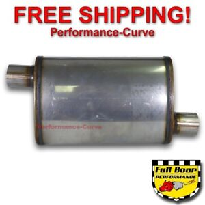 2 25 O o Performance Exhaust Muffler Max Flow Stainless Steel 4x9 Mf1235