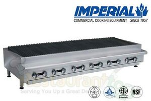 Imperial Commercial Radiant Char broiler 72 Wide Propane Model Irb 72