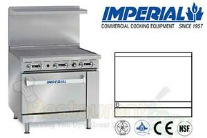 Imperial Commercial Restaurant Range 36 Griddle 1 Oven Nat Gas Model Ir g36 c