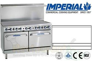 Imperial Commercial Restaurant Range 60 Griddle With 2 Ovens Gas Model Ir g60