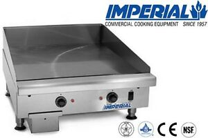 Imperial Commercial Griddle Thermostat Controlled Heavy Duty 24 Model Itg 24 e