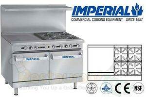 Imperial Commercial Restaurant Range 48 W 24 Griddle Propane Ir 4 g24