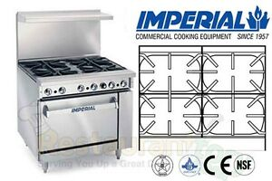 Imperial Commercial Restaurant Range 36 4 Wide Burners Natgas Ir 4 s18 c