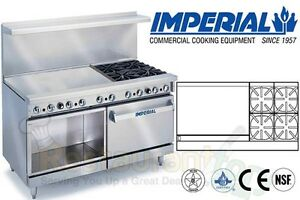 Imperial Commercial Restaurant Range 60 W 36 Griddle Nat Gas Ir 4 g36 xb