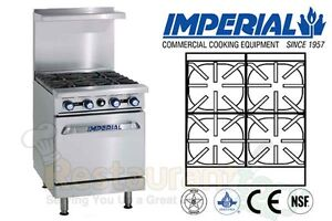 Imperial Commercial Restaurant Range 24 Standard Oven Natural Gas Model Ir 4