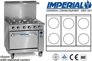 Imperial Comm Restaurant Range 36 With 6 Elements Electric Model Ir 6 e
