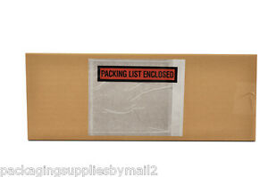 5000 Packing List Slip Holders Enclosed Pouch 4 1 2 X 5 1 2 Back Side Load