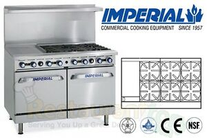 Imperial Commercial Restaurant Range 48 W 12 Griddle Nat Gas Ir 6 g12