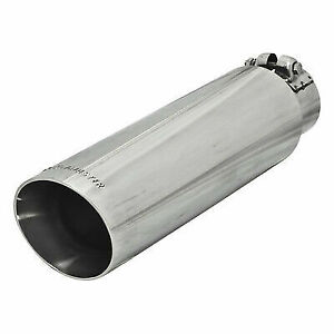 Flowmaster 15397 3 5 Stainless Angle Cut Polished Exhaust Tip For 2 5 Tailpipe