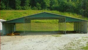 42x26 Metal Carport Garage All Steel Storage Building Installed View Our Store